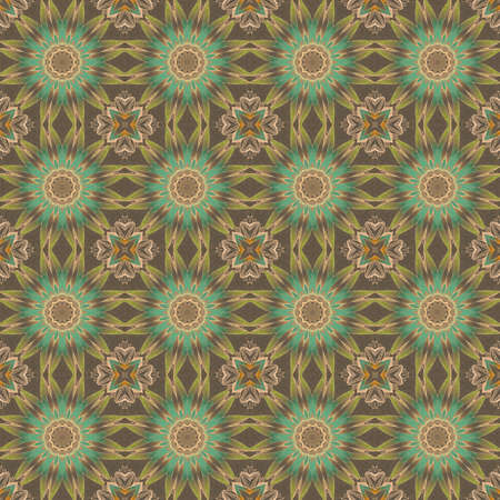 Beautiful seamless pattern with repeating stylized flowers. Print for fabric, textile, wallpaper, interior design. 版權商用圖片