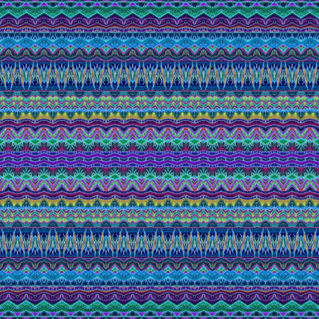 Seamless ornamental striped pattern. Colorful border. Mexican, indian, damask motifs. Fashionable print for fabric.