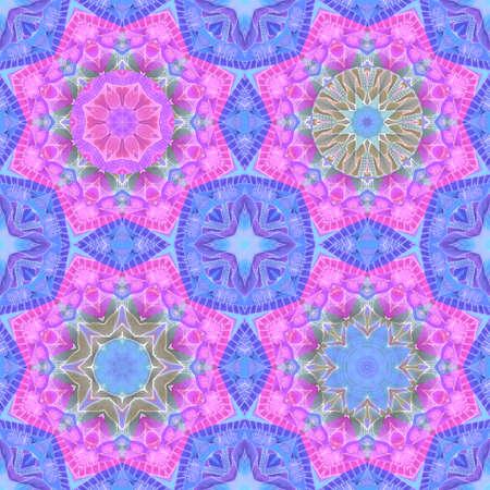 Ornamental seamless pattern with watercolor mandalas. Beautiful print for fabric.