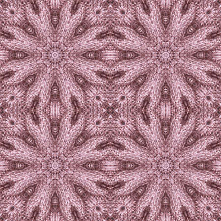Knitted seamless pattern with relief flowers. Floral ornament in dusty pink colors. Beautiful print for fabric and textile.