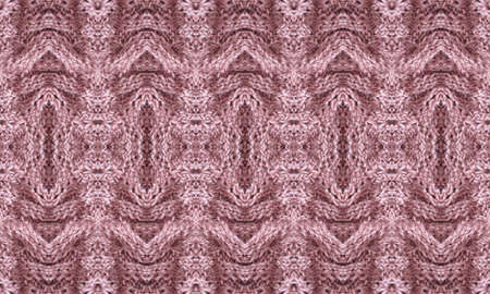 Seamless pattern with knitted ornament in dusty pink colors. Print for fabric and home textile.