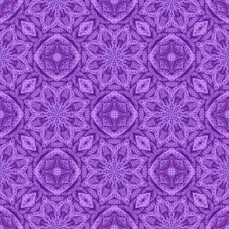 Beautiful seamless pattern with knitted ornament in violet colors. Print for fabric and textile. Zdjęcie Seryjne