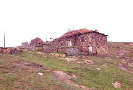 Abandoned house in village in Macedonia photo