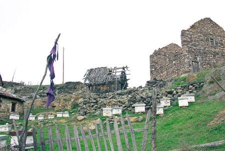 Abandoned village in Macedonia photo