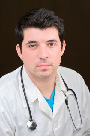general knowledge: Young doctor with a stethoscope