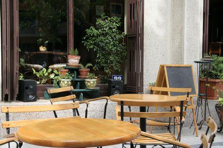 cafe bar: Een openlucht cafe bar