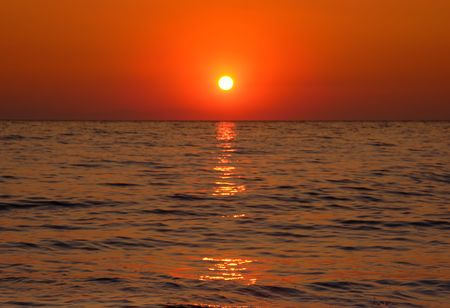 Sunset at the Aegean sea Stock Photo - 434994