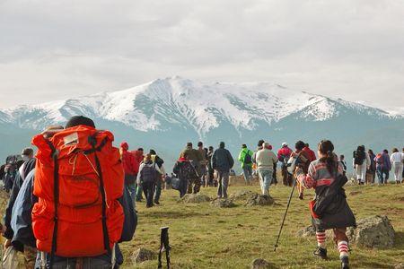 People trekking in the mountain in Macedonia Stock Photo - 452287