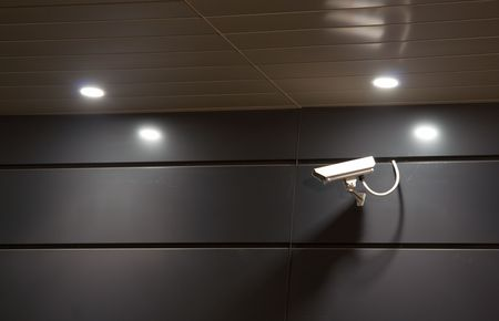 bank records: Security camera at night