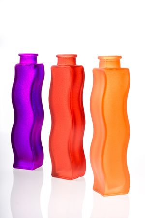 Colorful flower vases Stock Photo - 490377