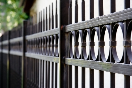 Stylish metal fence
