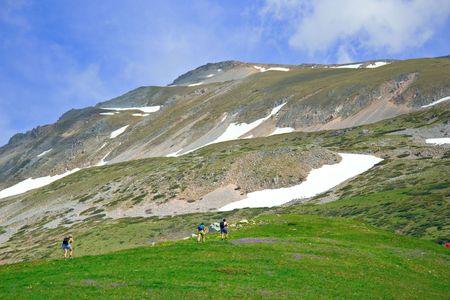 Climbers on mountain Sar Planina, Macedonia Stock Photo - 491836