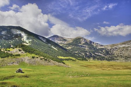 Sheepfold up in the mountains in Macedonia photo