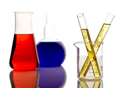 Chemicals in a research lab photo