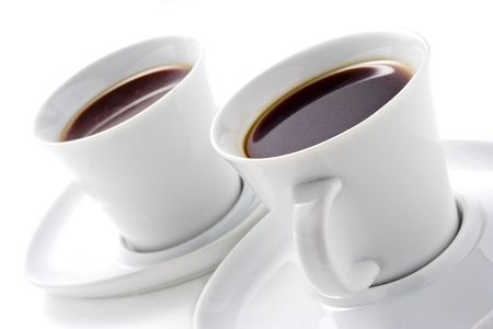 Two coffee cups Stock Photo - 722876