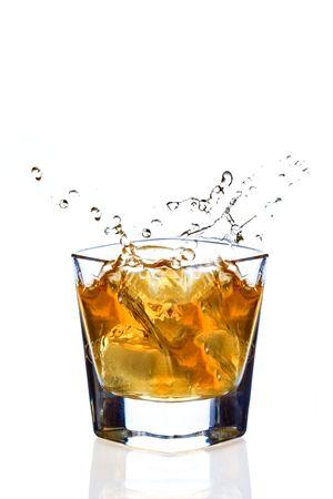 Whiskey splash photo