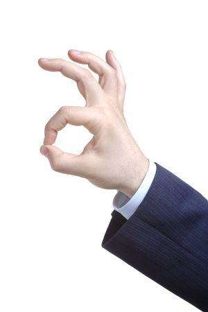 handsign: Handsign - it is ok! (against white background)