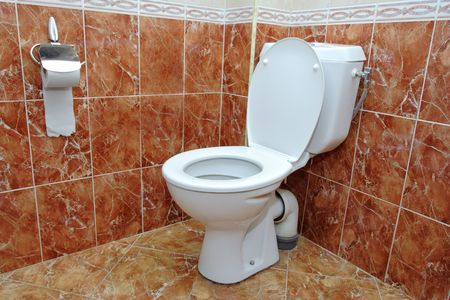 A view of a toilet in a hotel room Stock Photo - 841119
