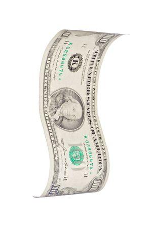 Wavy 100$ bill photo