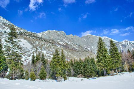 A view of a mountain peak Solunska Glava in Macedonia photo