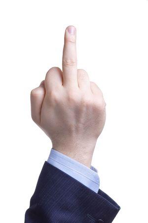 Man giving the finger Stock Photo - 874713