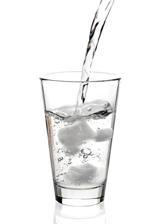 quench: Water being poured in a glass
