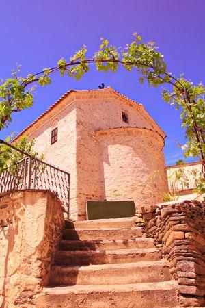Orthodox church in Manastirec village, Macedonia photo