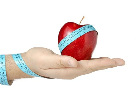 Eat healthy food and loose weight photo