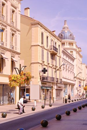 Street scene from Cannes, France photo