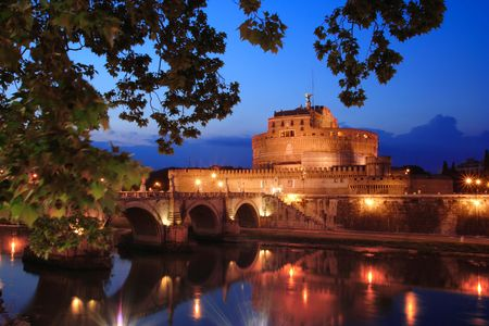 Castel di angelo fortress in Rome, Italy