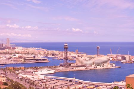 Panoramic view of Barcelona, Spain Stock Photo - 999904