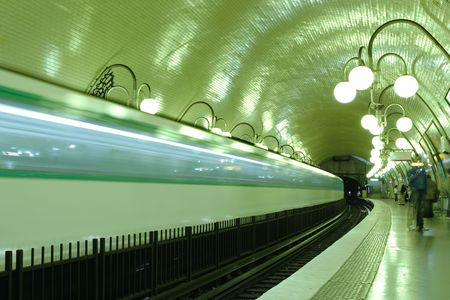 Paris subway station, France photo