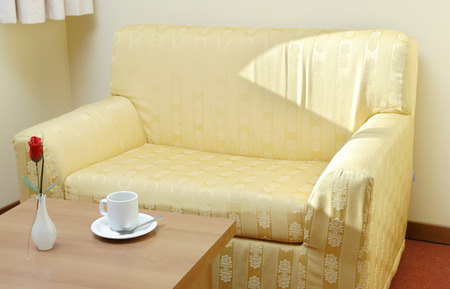 Empty sofa and a cup of coffee Stock Photo - 1438561