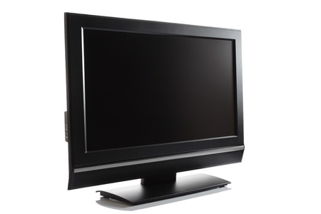 LCD high definition flat screen TV against white background Stock Photo - 1505406