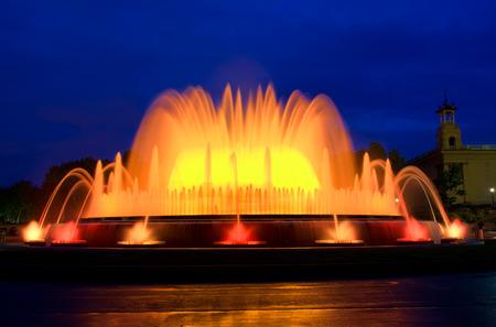 Magical fountain in Barcelona, Spain photo
