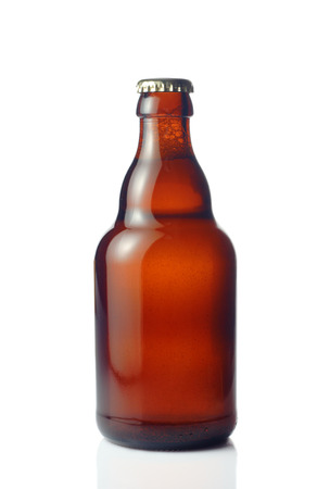 beer bottle: Beer bottle against white background