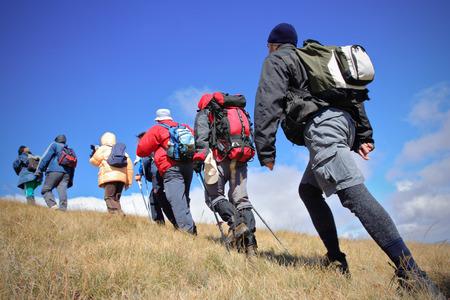 Alpine expedition going towards the peak Korab, Macedonia Stock Photo - 1728745