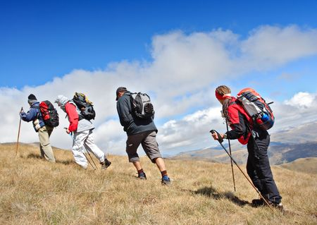 Alpine expedition going towards the peak Korab, Macedonia Stock Photo - 2046210