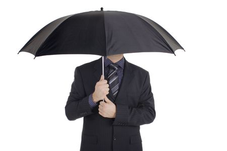 Man with an umbrella photo