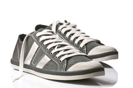 athletic wear: A pair of generic sneakers Stock Photo