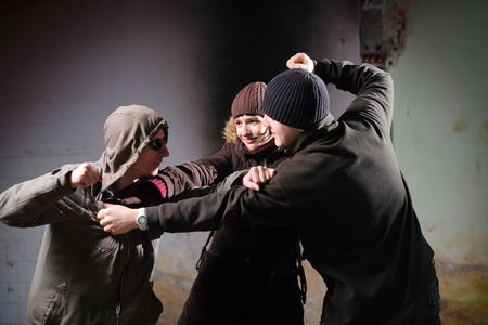 de maras: La violencia juvenil  Foto de archivo