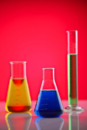 Chemicals in a laboratory photo