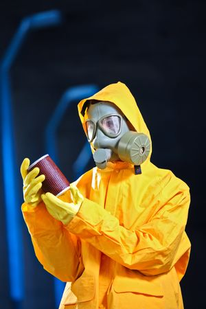 Scientist in a chemical plant photo