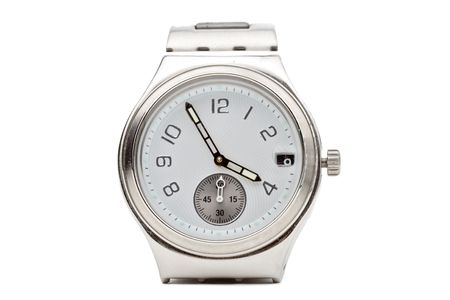 Wrist watch against white background  photo