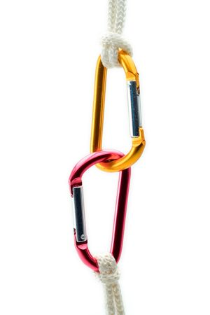 rely: Climbing gear, clipping path included against white background