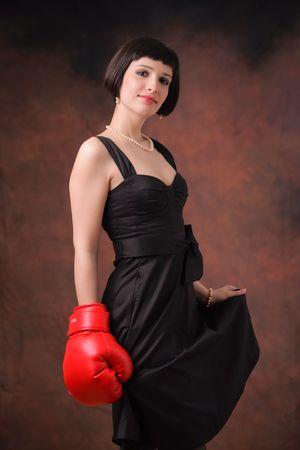 feministische: Vrouwelijke kracht Stockfoto