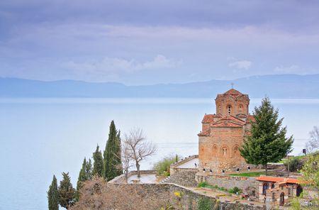 macedonia: St. Kaneo church in Ohrid, Macedonia Stock Photo