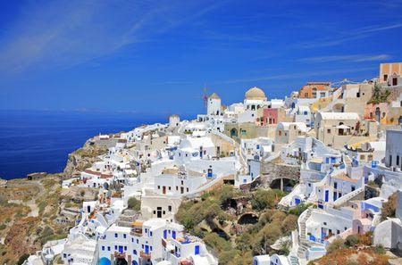 Oia village on Santorini island, Greece photo