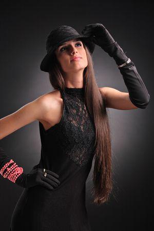 Fashion portrait of a beautiful young woman Stock Photo - 3238598