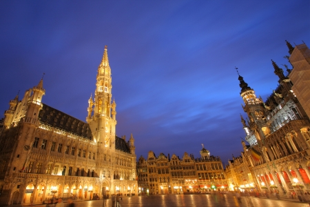 the place is outdoor: Grand place, Brussels Stock Photo